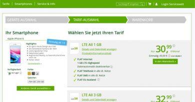 iPhone 8 inkl. Allnet Flat für 30,99 € mtl. + 49,99 € einmalig